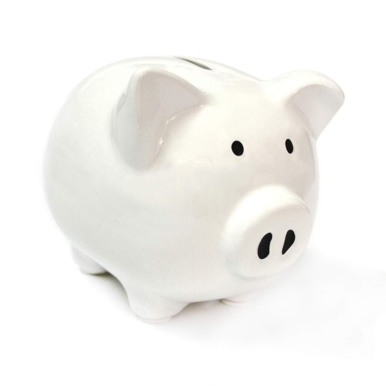 White Piggy Bank, Piggy Bank for Girls Boys Kids Piggy Banks A New Piggy Banks for Gift(White)