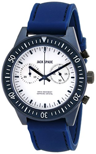 Jack Spade Men's WURU0112 Wilkins Blue Stainless Steel Watch with Matching Silicone Band (Jack Spade Watch)