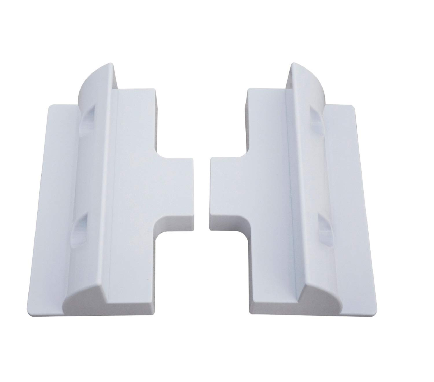 Spark Solar PV Panel Side Mounting Brackets In White Caravan Motor Home Boat (Black) Wside