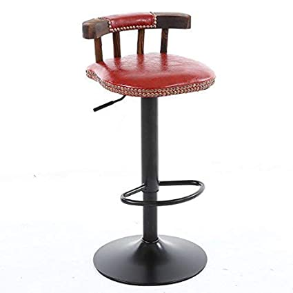 XHHWZB Bar Stools Breakfast Kitchen Chairs Stools with Padded Faux Leather Seat Backrest Chrome Footrest Dining