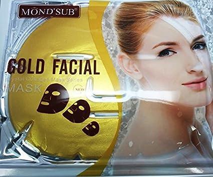 5 máscaras de gel de colágeno de oro de 24 quilates, antienvejecimiento, cuidado de