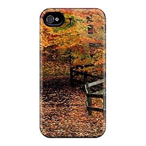 Defender Case With Nice Appearance (fall Stroll) For Iphone 4/4s