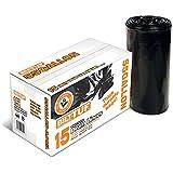 Contractor Trash Bags 55 Gallon Drum Liner Flat Cut Top Superior Strength Black 3.0 Mil 15 Count - Bilt-Tuf