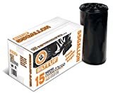 55 gallon drum liners - Contractor Trash Bags 55 Gallon Drum Liner Flat Cut Top Superior Strength Black 3.0 Mil 15 Count - Bilt-Tuf