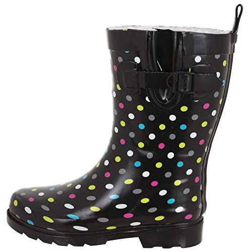 Capelli New York Ladies Lucido Ombrello Mid-calf Rain Boot Nero Multi
