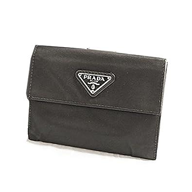 newest collection 3e579 6596a Amazon   [プラダ] ナイロン Wホック 財布 黒 ブラック ...