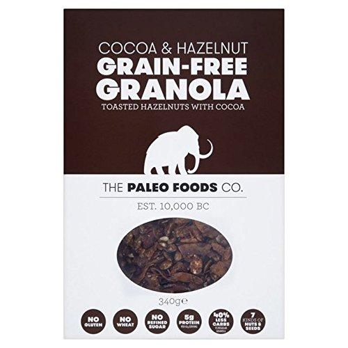The Paleo Foods Co Cocoa & Hazel Grain-Free Granola 340g - Pack of 2