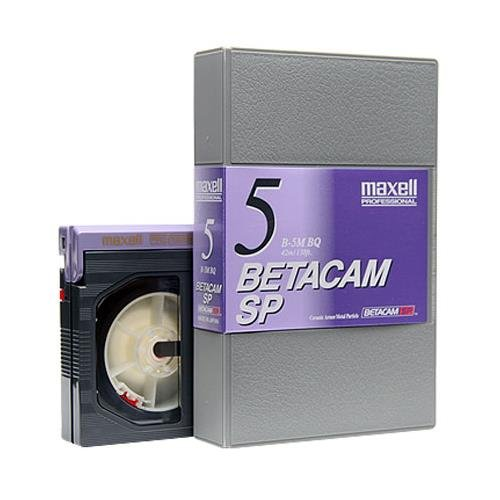 Maxell B-5MSP Betacam SP Video Tape, 5 Minute, Small