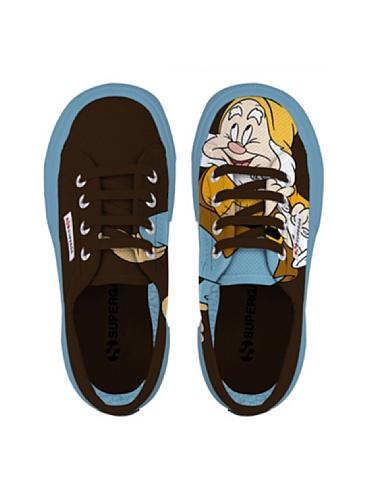 Superga 2750- Disney Gongolo COBJ S003P50D - Zapatillas para niño Gongolo Dk Coffee