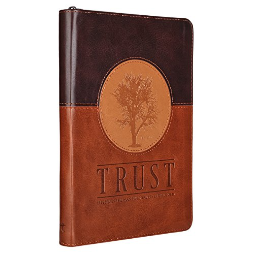 Trust Three-tone Zippered Flexcover Journal - Jeremiah 17:7-8