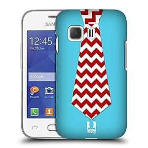 Head Case Designs Cheurón Corbatas Festivas Caso Duro Trasero para Samsung Galaxy Young 2