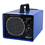 Clevr Professional Grade Commercial Ozone Generator with UV Light, Smoke Odor Remover w/ 3 plates Covers 3,500 sq.ft. | Great for Hotels, Warehouses, Auto Shops & Large Areas | 1 YEAR LIMITED WARRANT