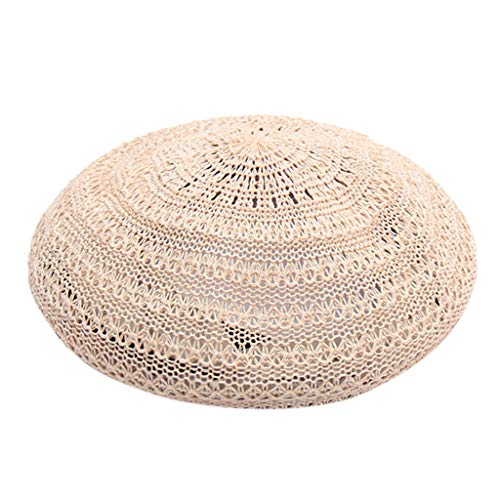 - HYIRI Anti-UV Beret Hat French Style Beanie Cap Solid Color Hat for Women and Girls Pink