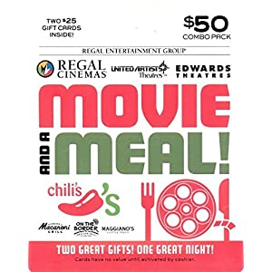 Brinker-Regal Entertainment Movie & A Meal Gift Cards, Multipack of 2