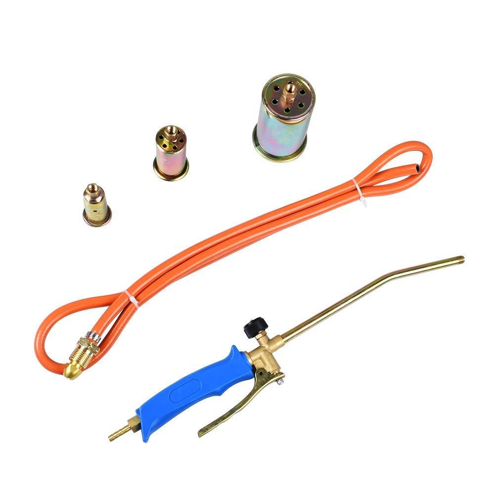 allkpoper Propane Butane Gas Heating Torch Burner Hose Regulator Roofers Weed Kit Blow Weed Torch