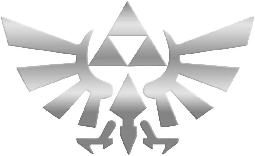 "Bargain Max Decals - Legend of Zelda Triforce Wings Delta - Sticker Decal Notebook Car Laptop 6"" (Silver)"