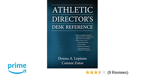 Amazon athletic directors desk reference with web resource amazon athletic directors desk reference with web resource 9780736082815 donna lopiano connee zotos books fandeluxe Gallery