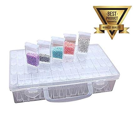 4a2cec2e6 64 caja ajustable organizador de pierdas diamond drawing KAKOO caja de  diamante de pitura de herramiente