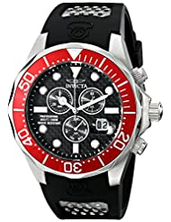 """Invicta Men's 12573SYB """"Pro Diver"""" Stainless Steel Watch with Black Polyurethane Band"""