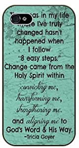 Change came from the Holly Spirit within - Tricia Goyer - Bible verse IPHONE 5C black plastic case / Christian Verses