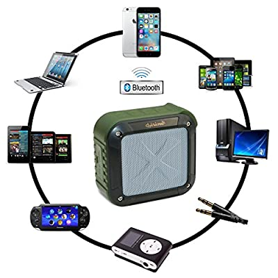 Best Bluetooth Speaker ClickTek, Portable Bluetooth 4.0 Outdoor & Shower, Waterproof, Wireless, Stereo Speakers, Car/Motorcycle, Home, Compatible To Any Device- Powerful Audio System, Fast Recharge!