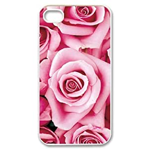 Hard Shell Case Of Colorful Rose Customized Bumper Plastic case For Iphone 4/4s
