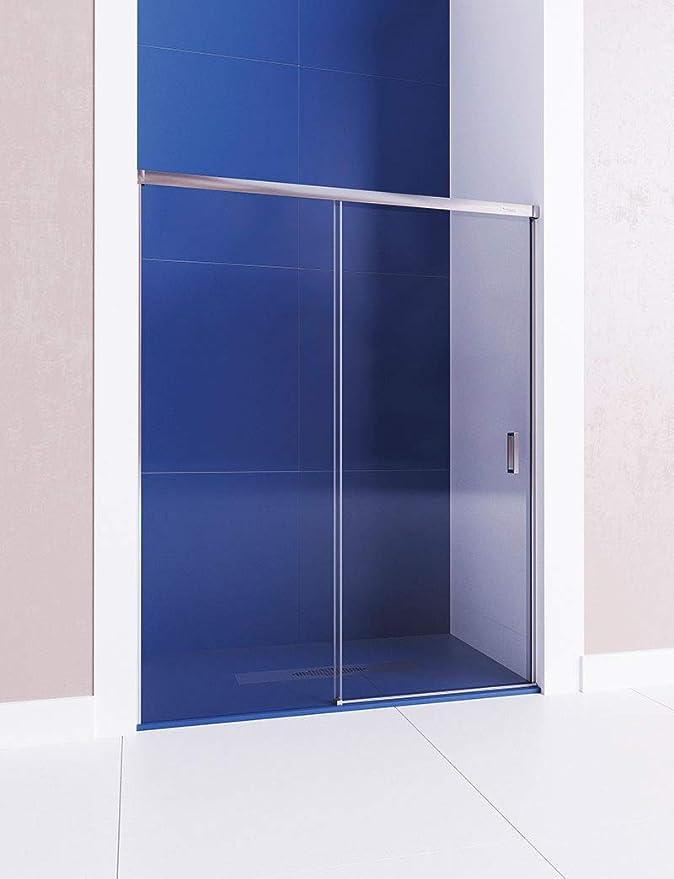 Mampara de ducha frontal - de 1 hoja fija y 1 puerta corredera ...