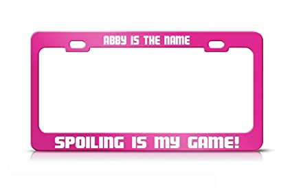 SPOILED PINK Metal License Plate Frame New