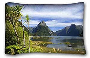 "Custom Characteristic ( Landscapes tropics Trees stones ) Zippered Body Pillow Case Cover Size 20""X30"" suitable for Full-bed PC-Orange-37538"