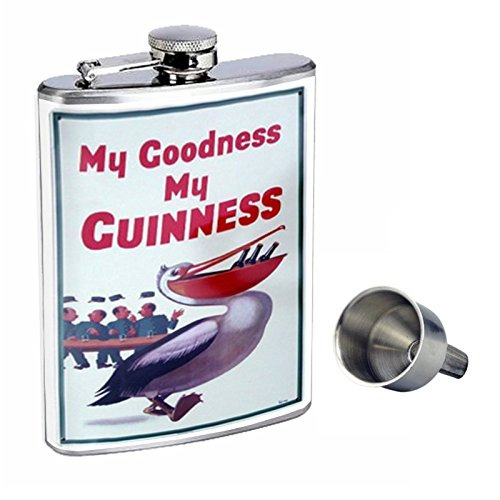 【超ポイントバック祭】 Perfection Inスタイル8オンスステンレススチールWhiskey Flask with Free with Free Flask Funnel d-023 My Goodness My Guinness Beer Pelicanレトロヴィンテージ B017GKWX60, アウトスポット:be27fccc --- timesheet.woxpedia.com