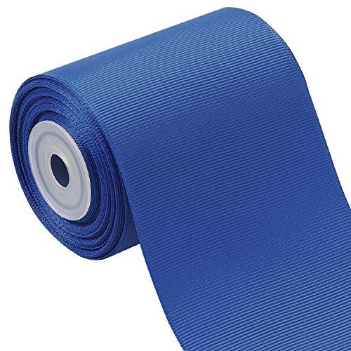 LaRibbons 3 Inch Wide Solid Color Grosgrain Ribbon - 10 Yard/Spool (350 Royal Blue)