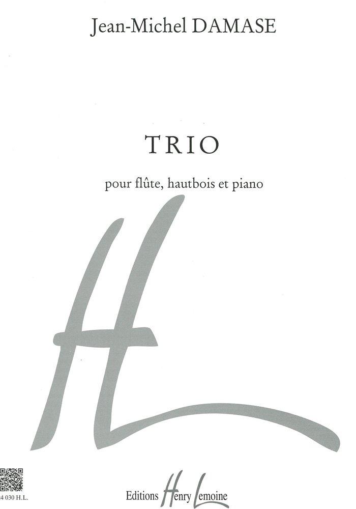 ジャンミシェル ダマーズ : 三重奏曲 トリオ (フルート、オーボエ、ピアノ) アンリルモアンヌ出版 B000ZGDDPS