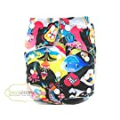 Kawaii Diapers One-Size Fun Prints Snap Closure Pocket Diaper (Sea World)