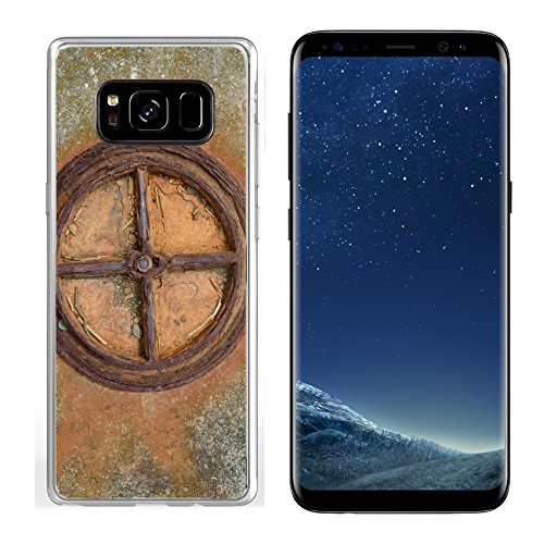 - Luxlady Samsung Galaxy S8 Clear case Soft TPU Rubber Silicone IMAGE ID: 33832638 Old rusted iron wheel pipe in concrete