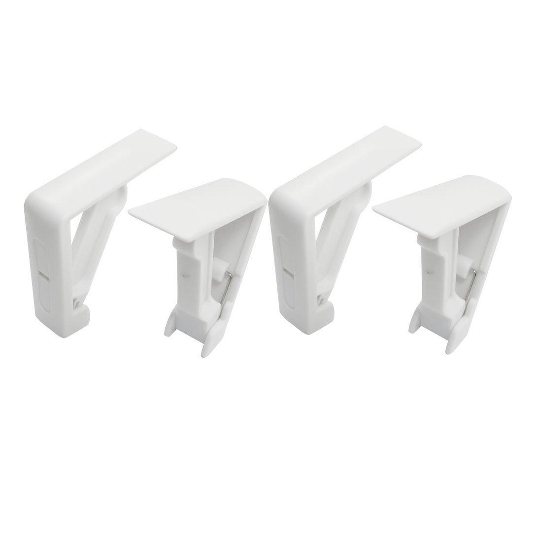TOOGOO(R) 4 Pezzi Tovaglia della copertura del supporto caricato a molla fermatovaglia morsetto Bianco SHOMAT11814
