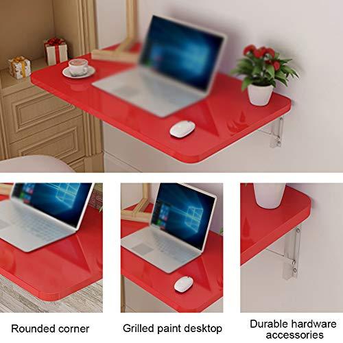 Väggfällbart bord matbord väggbord fällbord – rött – hemma – köksbord barnmöbler/laptopbord platsbesparande skrivbord