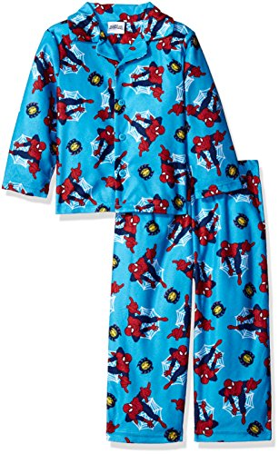 Marvel Little Boys' Toddler Spiderman 2-Piece Pajama Coat Set, Radioactive Red, - Red Radioactive