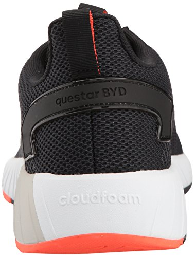 adidas Men's Questar BYD, core Black/Solar red, 6.5 M US by adidas (Image #2)