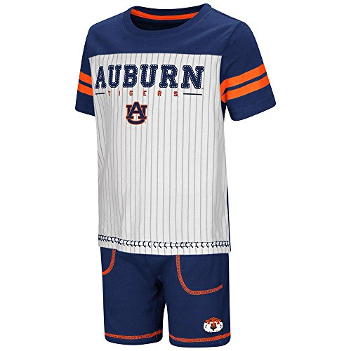 Colosseum Toddler Auburn Tigers Pinstripe Tee Shirt and Shorts Set - ()
