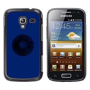 Be Good Phone Accessory // Dura Cáscara cubierta Protectora Caso Carcasa Funda de Protección para Samsung Galaxy Ace 2 I8160 Ace II X S7560M // Blue Dark Deep Circle Meaning Life