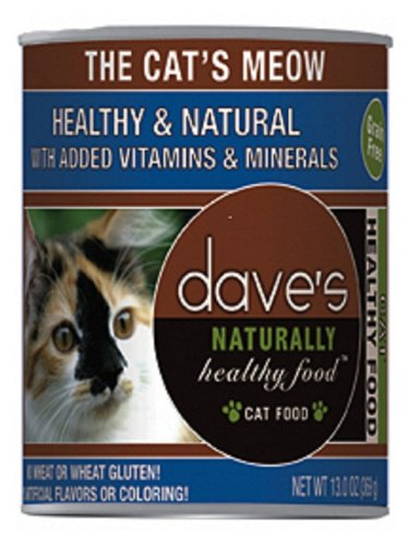 Dave's Naturally Healthy Cat Food The Cat's Meow (Pack 12x13oz), My Pet Supplies