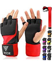WYOX Boxing Wraps MMA Gloves Inner Boxing Gloves for Men Women Youth - EZ-Off & On - Thick Knuckle Padding - Breathable Fabric Hand Wraps Heavy Bag Gloves