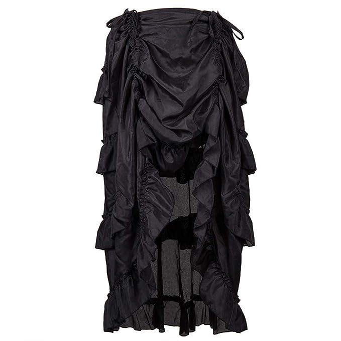 Amazon.com: Women Steampunk Skirt,Plus Size Gothic Ruffles Pirate ...