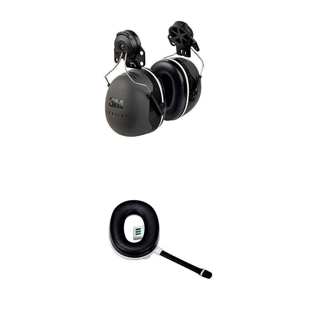 3M Peltor X5P3E  Cap-Mount Earmuffs (NRR 31 dB) with Peltor Wireless Communication Accessory (67137)