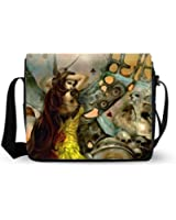 Fashion Black Soft Lightweight Dark Gothic Shoulder Messenger Bag