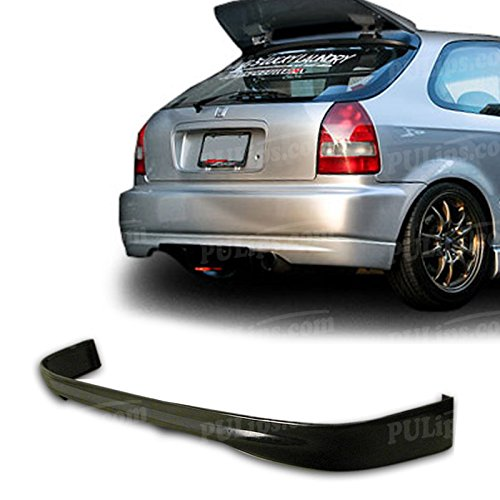 PULIps HDCV963TRRAD - Type-R Style Rear Bumper Lip For Honda Civic 1996-2000 Hatchback ()
