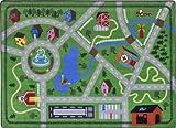 Joy Carpets Kid Essentials Active Play & Juvenile Neighborhood Explorer Rug, Multicolored, 5'4'' x 7'8''