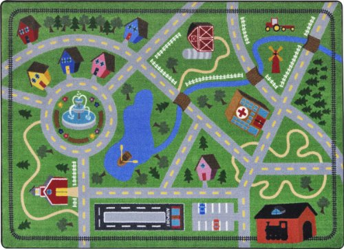 Joy Carpets Kid Essentials Active Play & Juvenile Neighborhood Explorer Rug, Multicolored, 5'4'' x 7'8'' by Joy Carpets