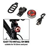 T-best Waterproof Bike Rear Tail Saddle Lamp COB USB Rechargeable Safety Warning Riding Night Light