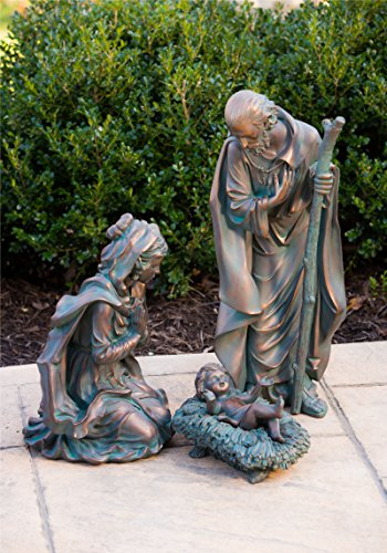 Evergreen 3-Piece Bronze Finish Mary, Joseph and Baby Jesus Outdoor Safe Garden Nativity Set by Evergreen Flag & Garden (Image #8)